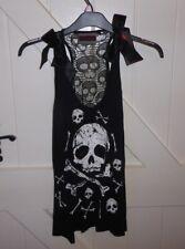 Jawbreaker Skull & Bones BLACK Gothic Style LARGE Vest/Top/Dress BNWT