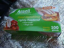 Ansell 100 Gloves Medium Food Grade