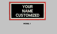 "LOGO CUSTOMIZED EMBROIDED  PATCH   4"" X 2""  (up to 4 colors) TWO FRAMES"