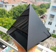 3333g Natural Huge Obsidian Quartz Crystal Pyramid Healing W2359