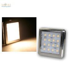 "LED Chrom-Unterbaustrahler ""Quattro"" 16 LEDs warm-weiß 12V ca1,6W, Aufbauleuchte"