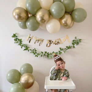 Happy Birthday Anniversary Congratulations Banner Balloons Set Party Decorations