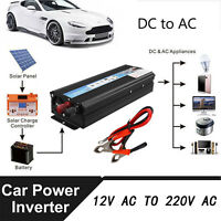 Auto 5000W Power Inverter DC12V AC220V Wechselrichter Spannungswandler Wohnwagen