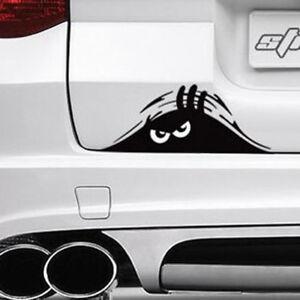 FUNNY PEEKING MONSTER EYES FOR JDM CAR BUMPER WINDOW VINYL DECAL BLACK STICKER