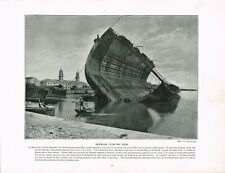 Bermuda Floating Dock Antique Print Victorian Old Picture 1897 TQE#215