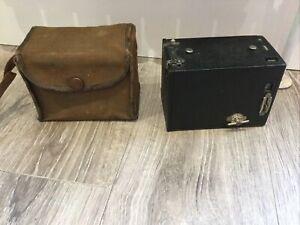 Vintage Retro Kodak No.2 Box Brownie With Original Carrying Case
