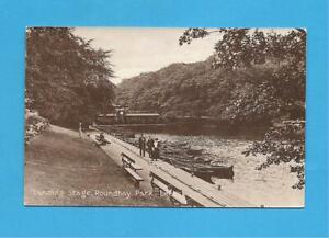 Landing Stage, Roundhay Park, Leeds, West Yorkshire. Postcard.