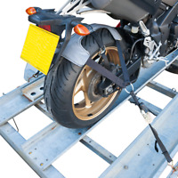 BikeTek Tie down motorcycle ratchet tyre fix transport strap motorbike trailer