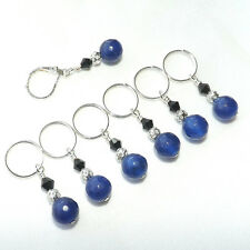 KNITTING ACCESSORIES STITCH MARKERS.  HANDMADE BEADED  SET OF 7 #002