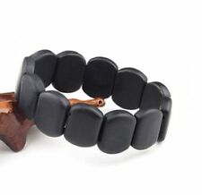 Stone needle natural black brief elliptic stone needle bracelet bian stone NY328