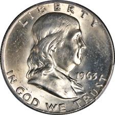 1963-D Franklin Half Dollar Pcgs Ms64 Nice Eye Appeal Nice Strike