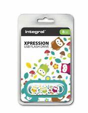 Integral USB 2.0 Expression Flash Drive - 8GB Owls . INFD8GBXPROWLS