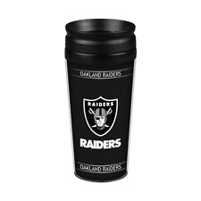 Oakland Raiders 14oz Full Wrap Travel Mug [NEW] Tumbler Coffee Cup Ounce