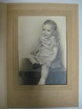 Vintage Portrait Photograph BABY GIRL IN DRESS Long Beach Studio One-Year-Old