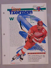 STEVE YZERMAN DETROIT RED WINGS #28 HOCKEY CHAMPIONS SPORTS HEROES BOOKLET