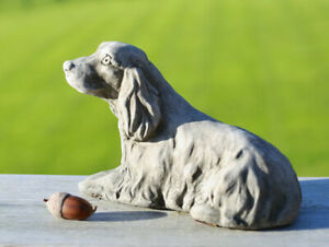 Cocker Spaniel Statue | Reconstituted Stone Dog Animal Concrete Garden Ornament