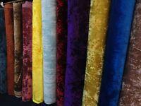 Heavyweight BLING Crush Velvet Clarke & Clarke Style Fabric Curtain Upholstery