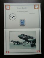 Germany Nazi 1936 Stamp MNH Airplane 10th anniv. of the Lufthansa air service WW