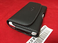 HORIZONTAL BLACK LEATHER CASE BELT HOLSTER POUCH FOR SAMSUNG GALAXY ON5