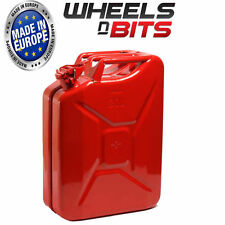 NEW HIGH QUALITY METAL POWER COATED INSIDE AN OUT RED JERRY CAN 20L LITRE CAN