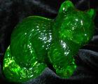 Green+Vaseline+glass+raccoon+glows+neon+forest+animal+uranium+coon+%2F+paperweight
