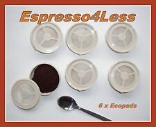 6 Permanent Refillable SENSEO Coffee Filter Pods: ECOPAD for Philips Machines