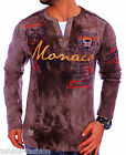 Pull Hommes Col rond Sweat À Capuche Manches longues Chemise T-Shirt WOW NEUF