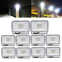 10X 30W LED Flood Lights Cool White Floodlights Outdoor Security Lighting Lamp