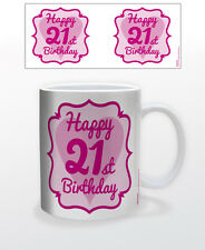 HAPPY 21ST BIRTHDAY 11 OZ COFFEE MUG DECOR DIRTY THIRTY MILESTONE ALCOHOL LEGAL!