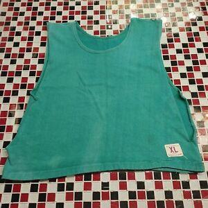 Vtg 60' 70's ~ Champion ~ XL Knitwear Sportswear CUT OFF SWEATSHIRT Green USA