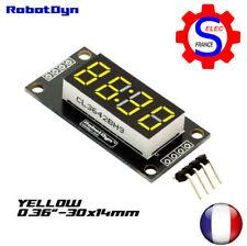 4-Digit LED Display Tube, 7-segments, TM1637, 30x14mm-Yellow-Double dots (clock)