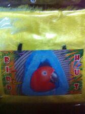 Bird Yellow Fur MEDIUM Hanging Hut Happy Tent Plush Parrot Toy Bunk Bed