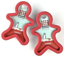 Set of 2 Plastic Cookie Cutters Ginger Bread Man Sweet Creations by Good Cook