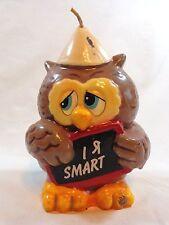 Vintage Molded Wax Candle I R SMART OWL 1984 Wicks n Sticks School Kid Macau