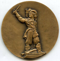 France Bronze Art Medal Flanders – Dunkerque 60mm 89g