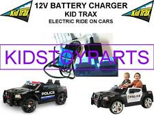 12 Volt Battery Charger / KID TRAX DODGE CHARGER Ride On Toys w/ Blue Connector