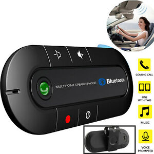 Bluetooth Car Kit Wireless Truck Speakerphone Music Player Adapter Built-In Mic