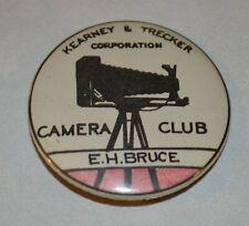 Kearney & Trecker Milwaukee Machinery Employee Pinback Button Camera Club