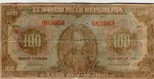 COLOMBIA NOTE $100 1928 G/VG