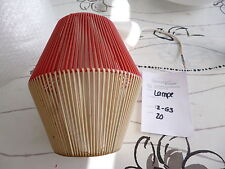 50er 60er Jahre Deckenlampe Lampe Rockabilly Vintage Retro Weiß rot Deko