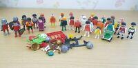 Playmobil Figures Mixed Bundle of 30 Figures + Accessories Job Lot Vintage