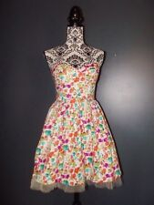 QED LONDON ROBE DRESS  BUSTIER FIFTIES LIBERTY TULLE TXS OU 34
