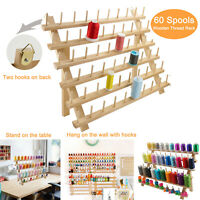 Wooden Thread Rack/Thread Holder Organizer 60 Spools for Embroidery Quilt Sewing