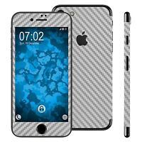 1 x Set di pellicole Effetto carbonio per Apple iPhone 7 / 8 argento