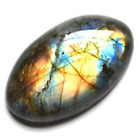 Cts. 48.95 Natural Spectrolite Labradorite Cabochon Oval Cab Loose Gemstone