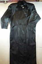 *NWT* WINLIT WOMENS LONG LEATHER COAT SIZE SMALL C190 BB3