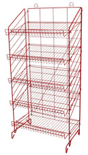 2 Floor Snack Display Rack - 5 Adjustable Shelf 24
