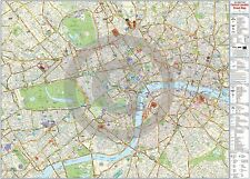 London Central Street Wall Information Map - LAMINATED / ENCAPSULATED Poster