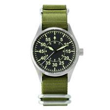 San Martin Pilot Flight Men Watch Automatic Military Nylon Nato Strap Super Lum