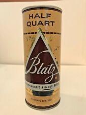 Blatz Straight Steel Half Quart 16 Oz Beer Can